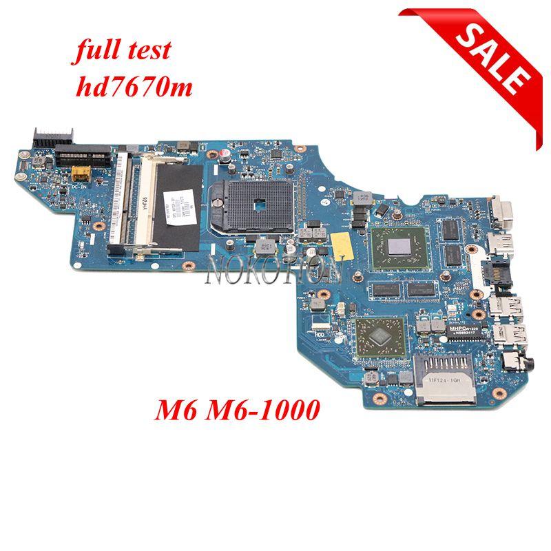 NOKOTION 687229-501, 687229-001 QCL51 LA-8712P placa base para portátil HP Pavilion M6 M6-1000 placa base hembra FS1 HD7670M GPU