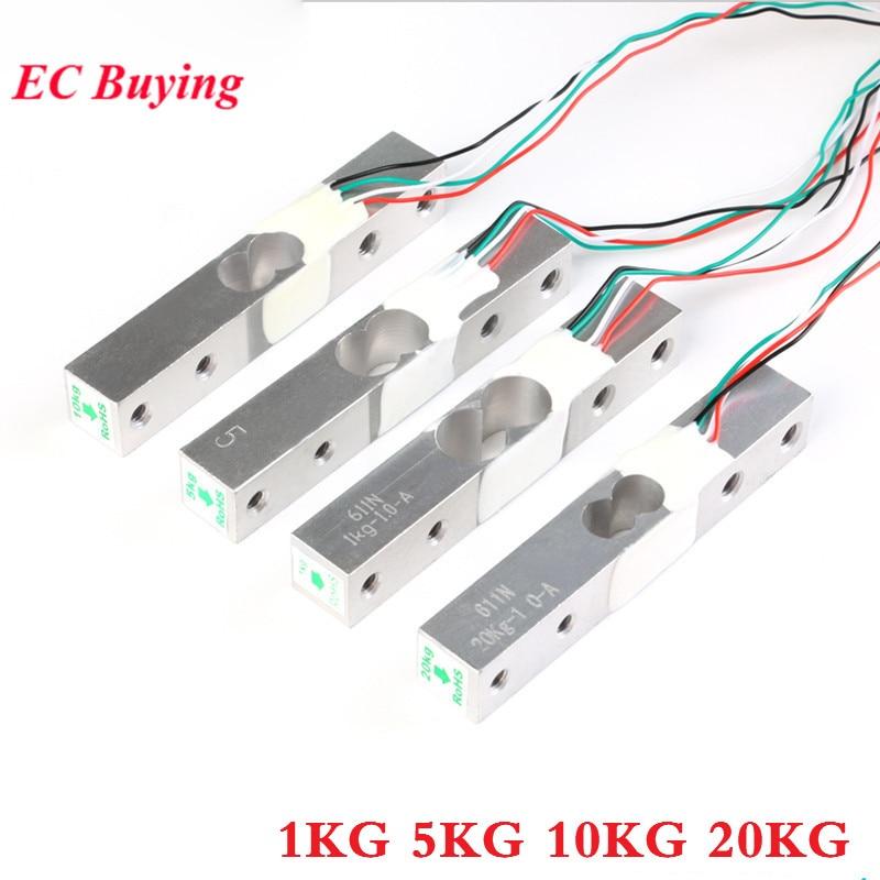 1 KG Digitale Wägezelle Gewicht Sensor + HX711 Wiegen Sensoren Ad Modul für Arduino 1 kg 5 kg 10 kg 20 kg