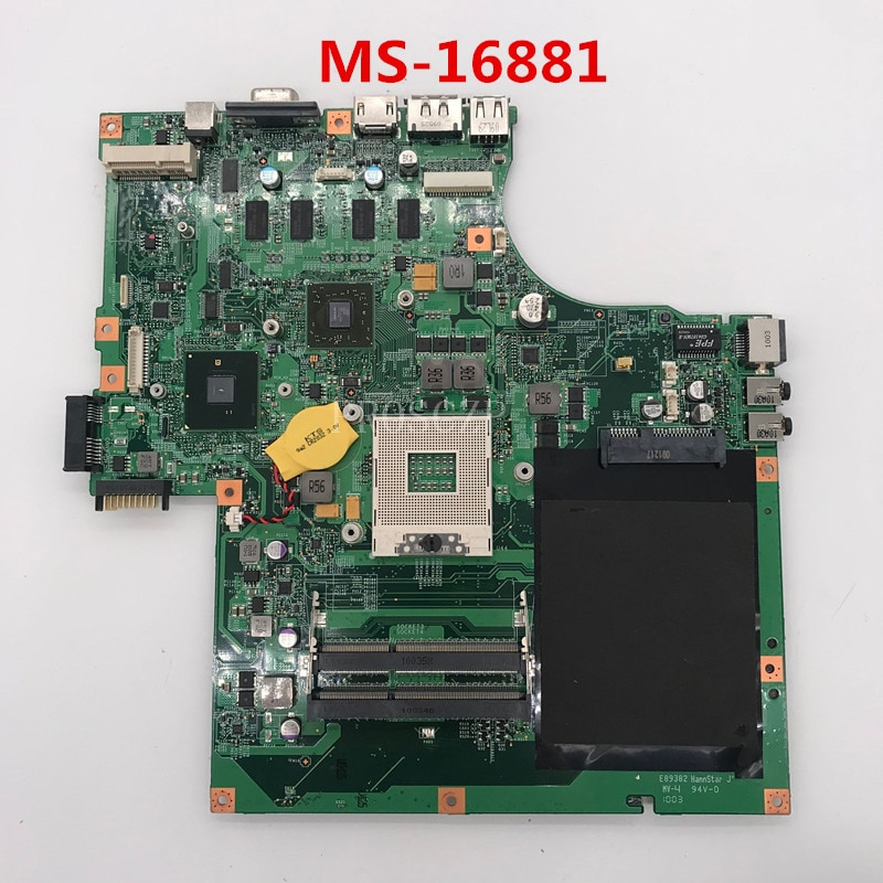 Frete grátis Para Laptop motherboard HM55 MS-16881 DDR3 funcionando bem