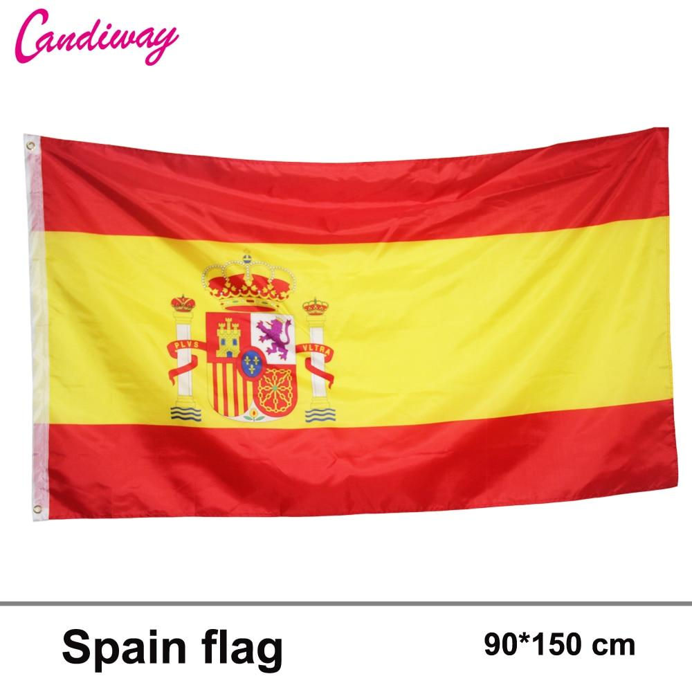 90x150 cm espanha bandeira 3x5 Pés Super Poli futebol Bandeirolas BANDEIRA Nacional de Poliéster Bandeira Ao Ar Livre Indoor bandeira