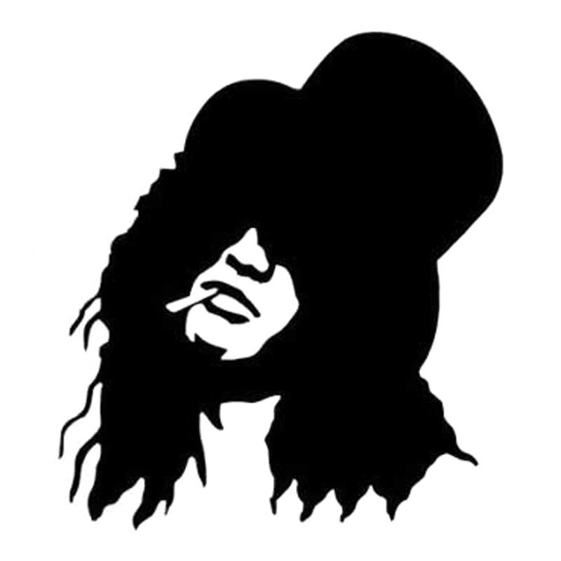 13.8cm*15.5cm Slash Guns N' Roses Fashion Stickers Decals Car Styling Vinyl Black/Silver S3-7020