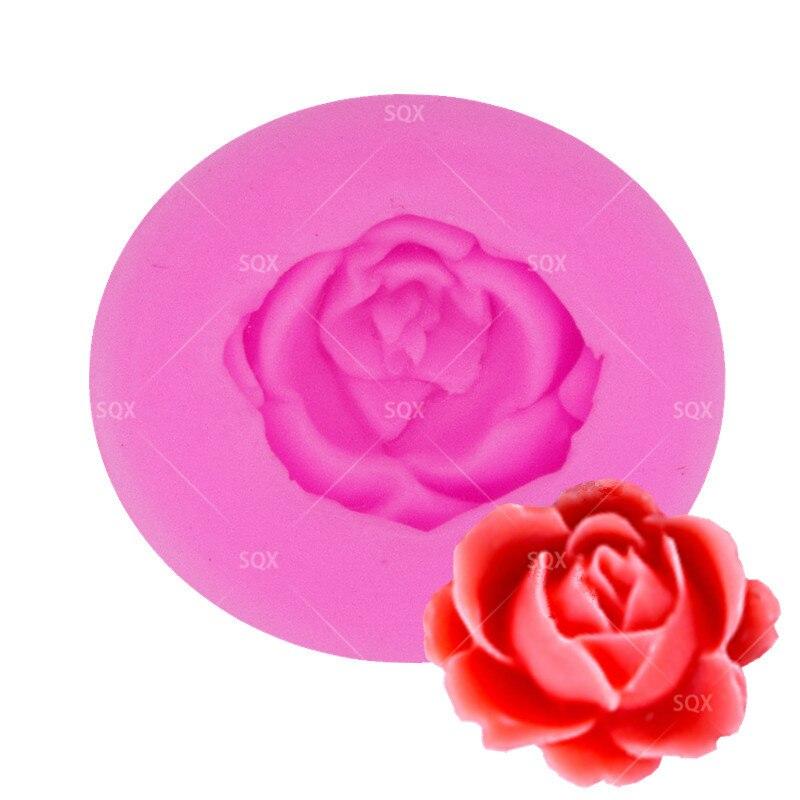 Molde de silicona rosa para Fondant, molde para hornear pasteles, molde de encaje, decoración de tartas de cumpleaños y bodas, herramientas para Fondant SQ17111