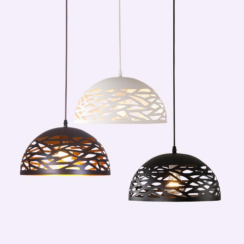 الحديثة قلادة LED أضواء المعادن الجوف الطعام غرفة مصباح المعيشة غرفة نوم متجر شريط المعاصرة تركيبة إضاءة الديكور