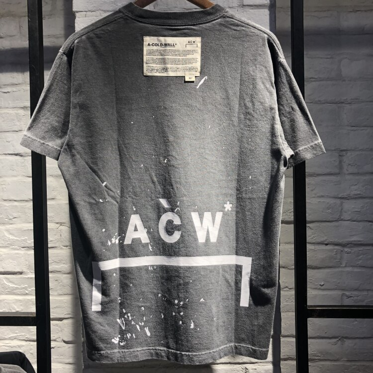 Лучшее качество A-COLD-WALL ACW футболки мужские и женские хлопковые свободные ACW футболки повседневные A-COLD-WALL ACW футболки