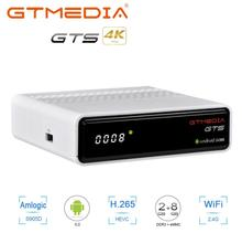 GTmedia freesat GTS Satellite Receiver cccam Android 6.0 TV BOX+DVB-S2 2/8GB RAM ROM iptv tv box BT4.0 +mini Bluetooth keyboard