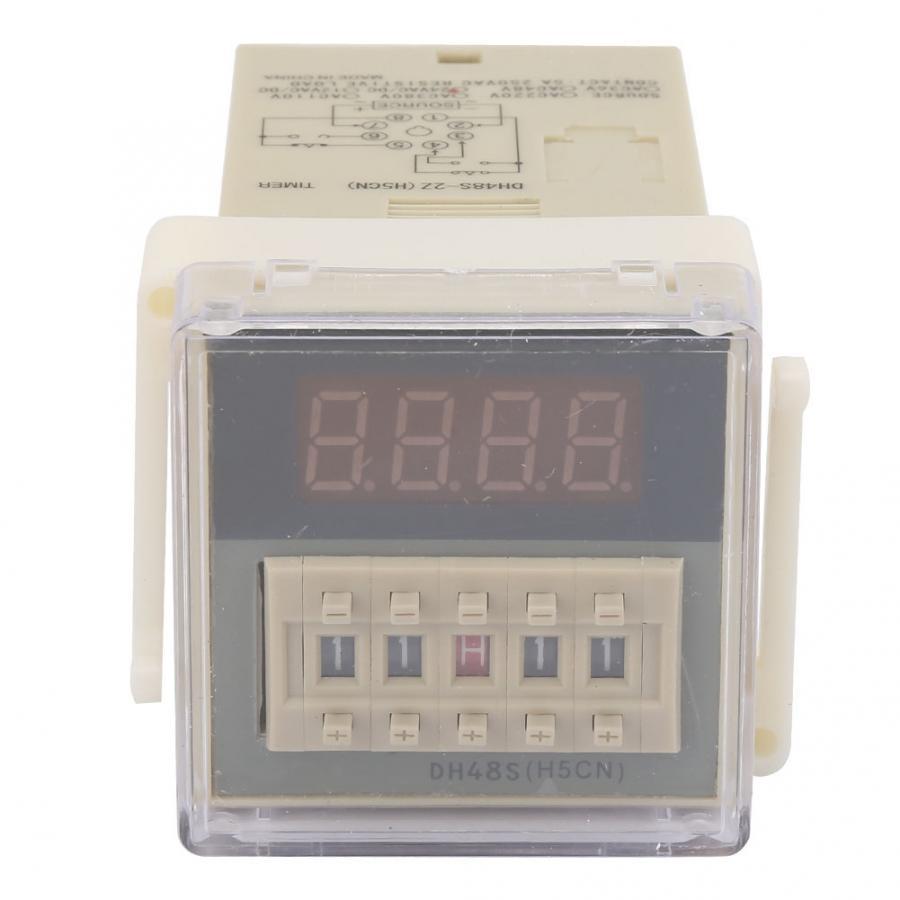 O111ROM-0.01S-9999H   Écran LCD, minuterie temporisation relais 8 broches, 12VAC/DC 24VAC/DC 110VAC 220VAC 380VAC
