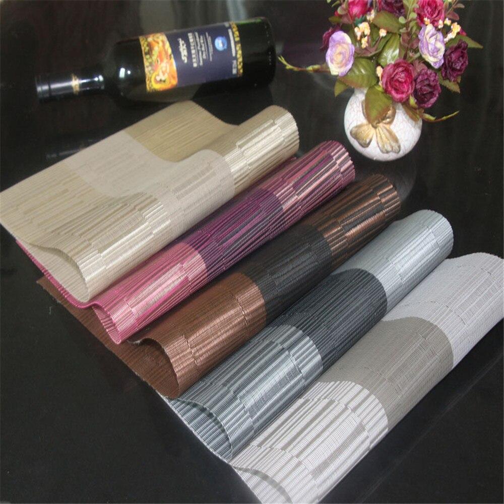 Lote de 4 manteles individuales LIYIMENG, vajilla aislada con calor, Decoración de mesa de PVC, cuenco de cocina, alfombrilla impermeable