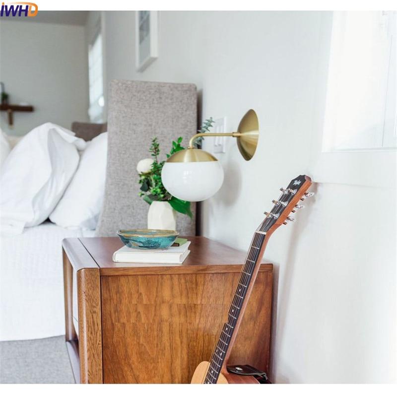 Postmodern LED Wall Lights E27 4W Glass Ball Nordic Bedroom Sconce Fixtures Wall Lights Fixtures Bathroom Mirror Light Arandelas  - buy with discount
