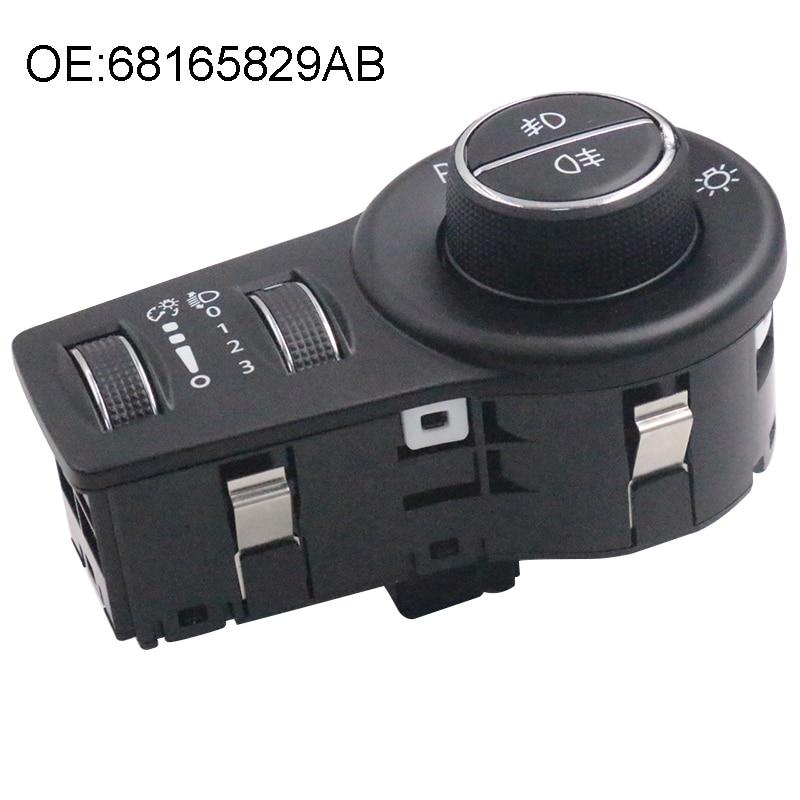 Yaopei 68165829ab farol interruptor se encaixa para dodge jeep chrysler acessórios do carro