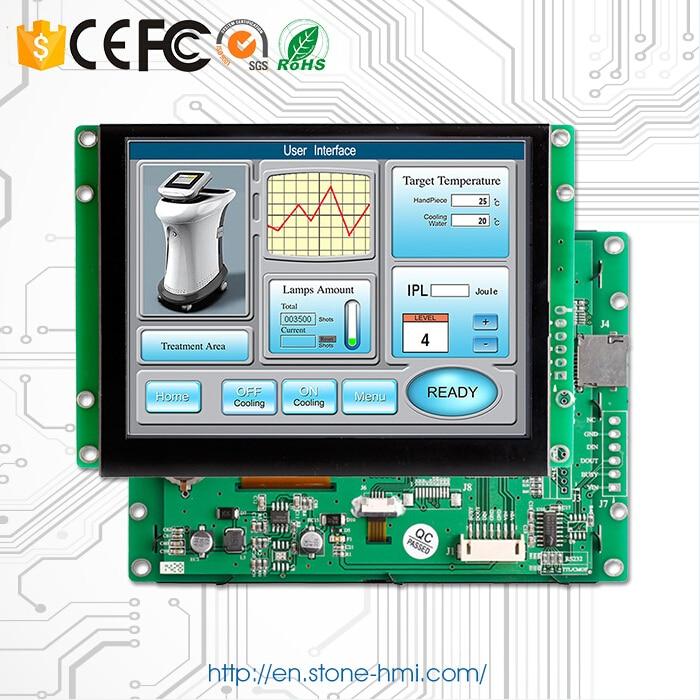 Monitor LCD TFT de Resolución de 8 pulgadas 800*600 a la venta Kit de pantalla táctil Puerto USB/RS232