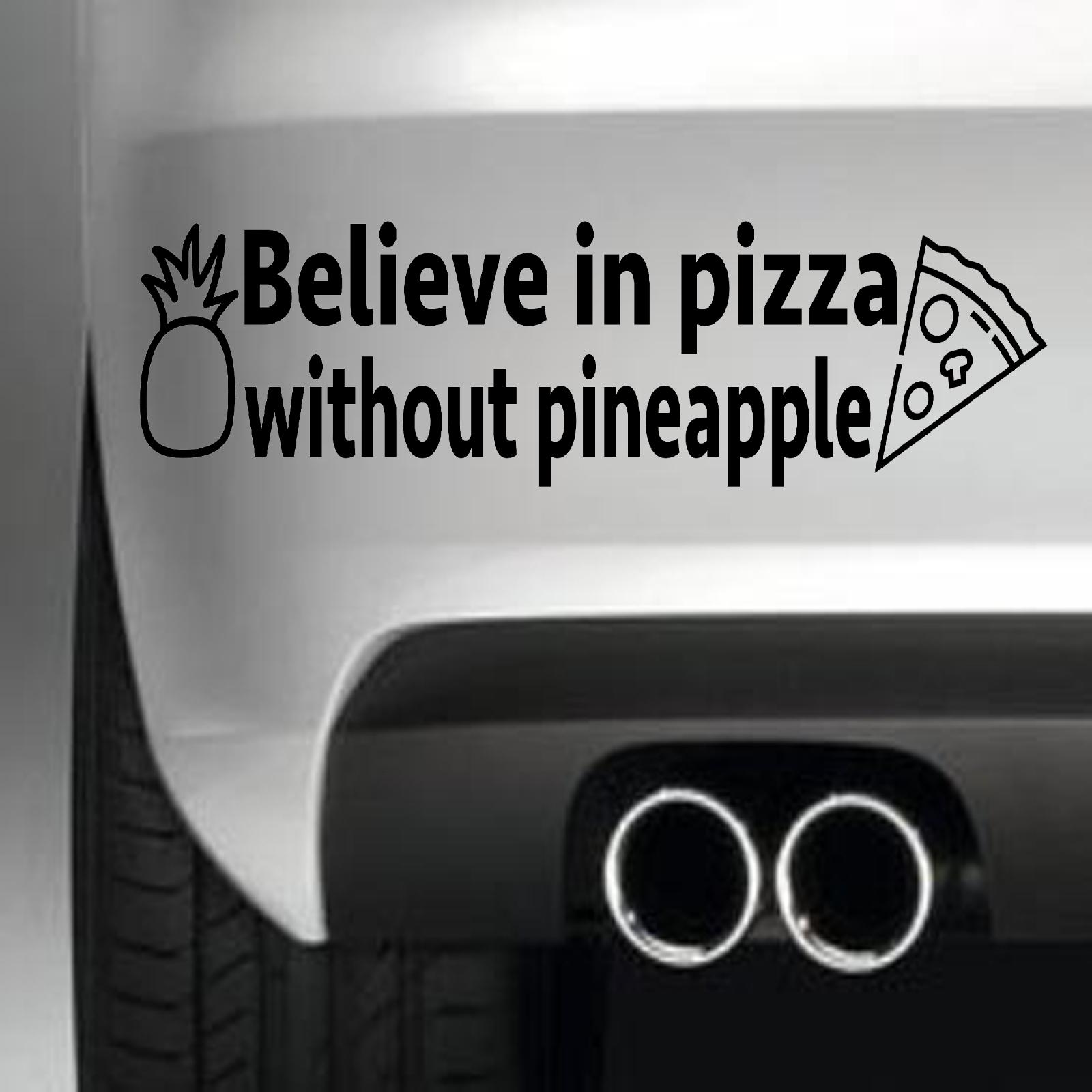22*6,4 cm en Pizza de parachoques del coche etiqueta engomada divertida deriva Jdm arte de la pared de comida de la motocicleta SUV coche ventana vinilo calcomanía