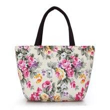 2019 Mini imperméable à leau femmes sac à main toile Portable fleur imprimer sacs à bandoulière femme voyage sacs à provisions momie fourre-tout sac de plage