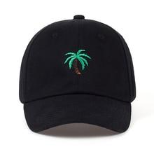 Fashion Cap Women Men Summer Spring Cotton Caps Women Coconut tree Solid Adult baseball Cap Snapback Women Cap 2017