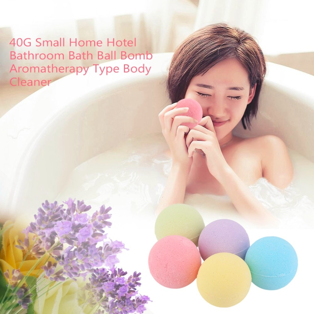 Bomba de bolas de baño de tamaño pequeño de 40G para Hotel en casa, tipo de aromaterapia, limpiador corporal hecho a mano, bombas de sal de baño, regalo