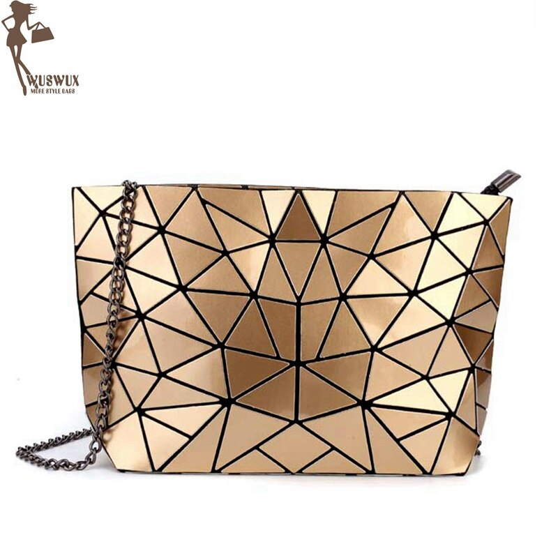 Bolsa de cadena nueva moda piedra geométrica PU mujeres bolsos de mensajero moda mujer bolso de hombro casual bolso bandolera Mujer