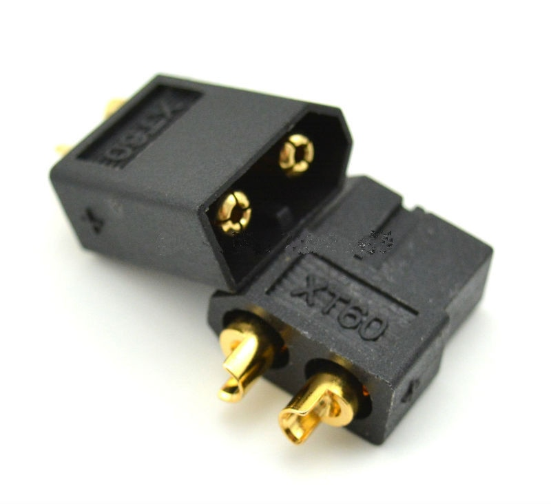 100 par/lote de alto rendimiento negro XT60 XT-60 conector macho hembra chapado en oro Banana enchufe para batería RC Lipo DZ0094