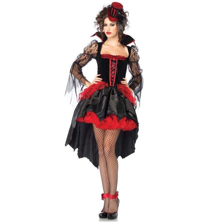 Meia noite Mistress Adulto Traje elegante traje do vampiro para este Dia Das Bruxas