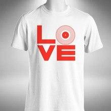 "2019 Newest 100% Cotton T Shirts Love Vinyl Mens T-Shirt Vinyl Junkie House Music Crate Digger Turntable 12""Urban Tee Shirts"