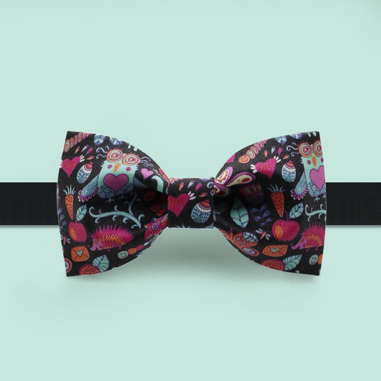 Free Shipping New men's Male fashion casual female Original design bowknot printed partydress formal dress bow tie peony pattern