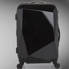 Baggage Women Suitcase valiz bag men bags,Diamond cutting trolley case,new style,Swivel travel luggage mute,Polychromatic 20 24