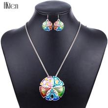 MS1504182 mode sable dollar bijoux ensembles de haute qualité collier boucles doreilles ensembles argent plaqué cadeaux de fête