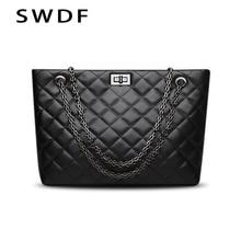 Luxury Brand Plaid Crossbody bags for women 2020 Large Female Handbags Designer Black Leather Messenger Tote Women shoulder bag