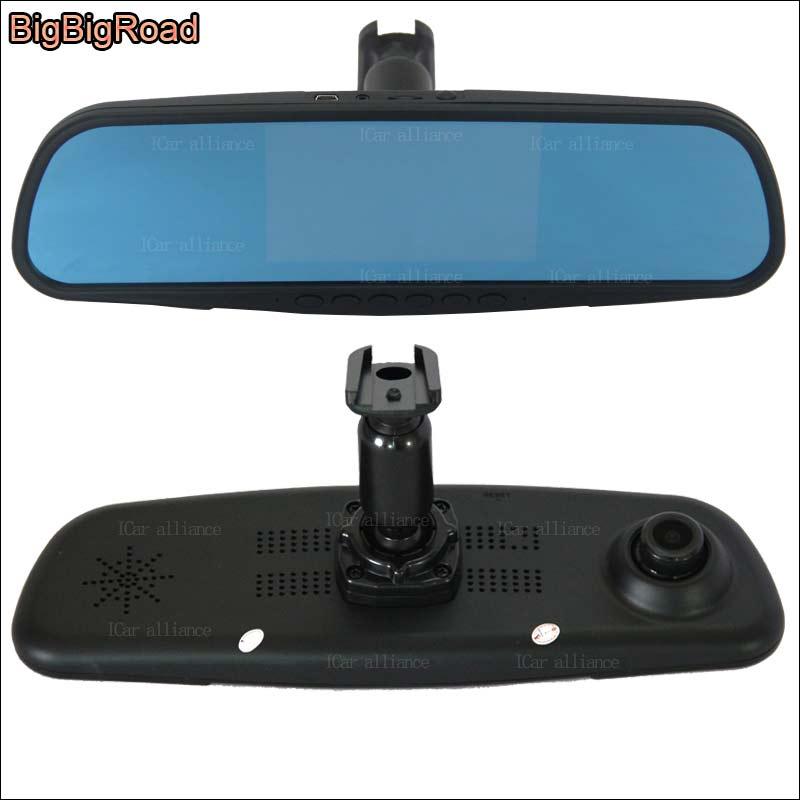 BigBigRoad для nissan murano двойной объектив Автомобильный видеорегистратор синий экран видеорегистратор g-сенсор парковочный монитор со специальны...