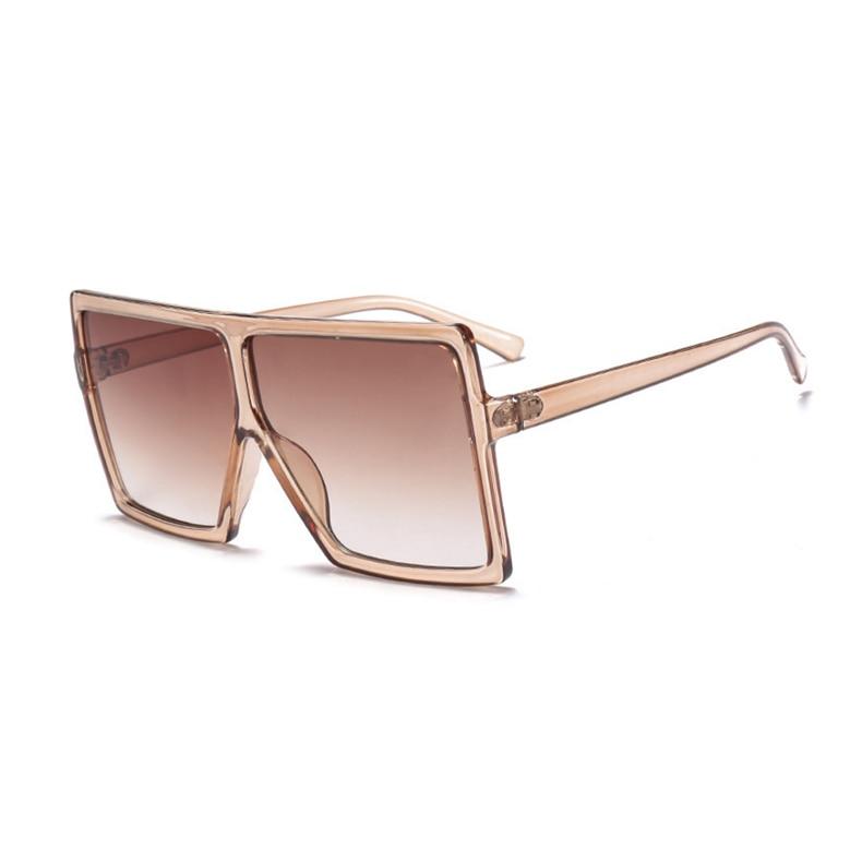 Gafas de sol de gran tamaño a la moda para mujer con marco grande gafas de sol planas