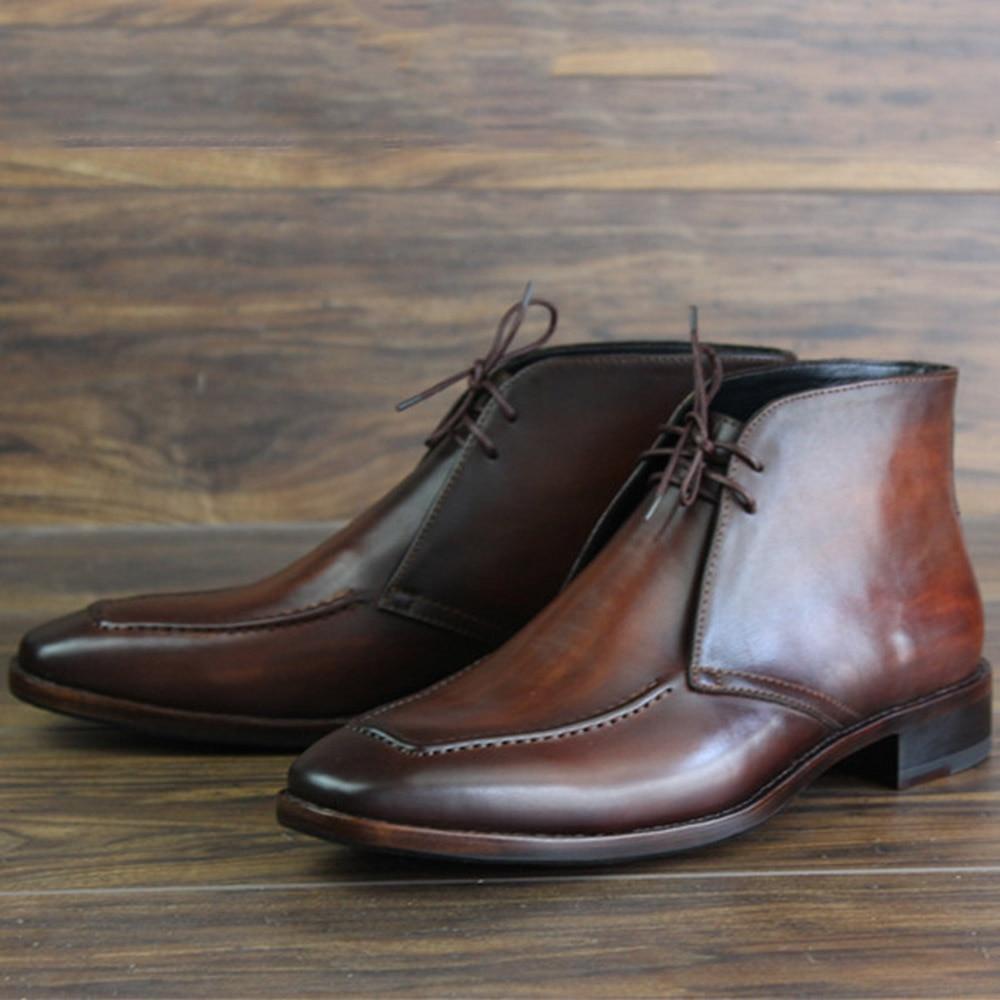 Sipriks-حذاء صحراوي للرجال ، حذاء جلد العجل ، تصميم فريد ، إيطالي ، مصنوع يدويًا ، جوديير ، لحام