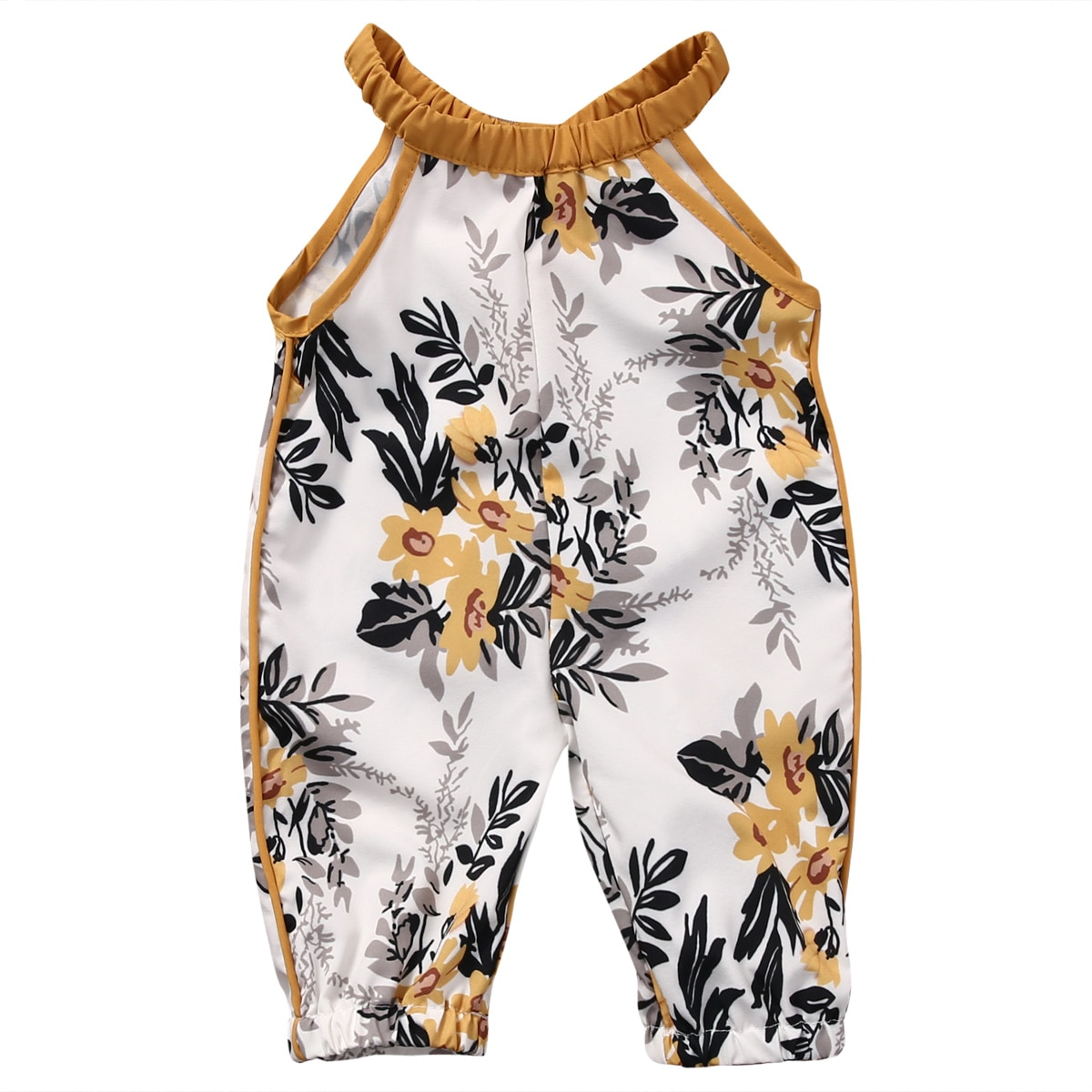 2017 модная одежда для маленьких девочек, летние комбинезоны детские одежда без рукавов с цветочным принтом для маленьких девочек, комплект одежды