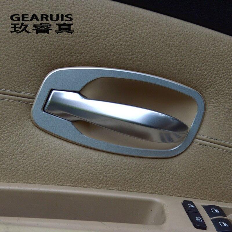 Cubierta de manija de puerta Interior para Estilismo de coche, pegatinas de decoración para cuenco de puerta embellecedor para BMW e60 5 series 2006-2010, accesorios para automóviles