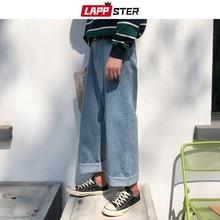 LAPPSTER Men Harajuku Harem Jeans Pants 2020 Mens Streetwear Hiphop Denim Wide Leg Pants Male Vintage Loose Colorful Pants XL