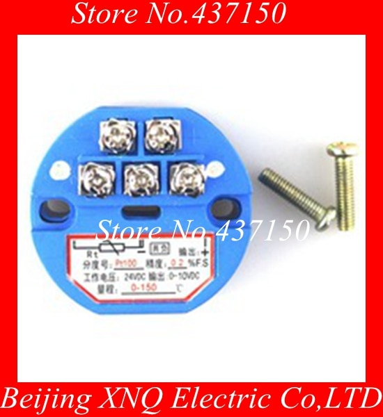 1 PCS X New Sensor de Temperatura Transmissor PT100 0-5 V, 0-10 V saída-50-100 graus, 0-100,200,300,400, 500 graus, RTD