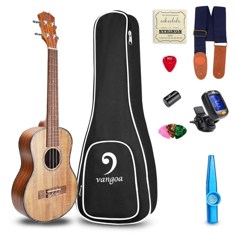 Ukulele koa 23 polegada concerto acústico ukulele guitarra mini havaí ukelele iniciante kit
