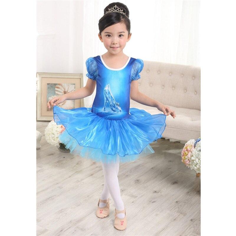 Vestido de Ballet para niñas MSemis, vestido de bailarina, leotardo de gimnasia para niñas, zapatos de cristal azul, vestido de tutú de Ballet, vestido de princesa
