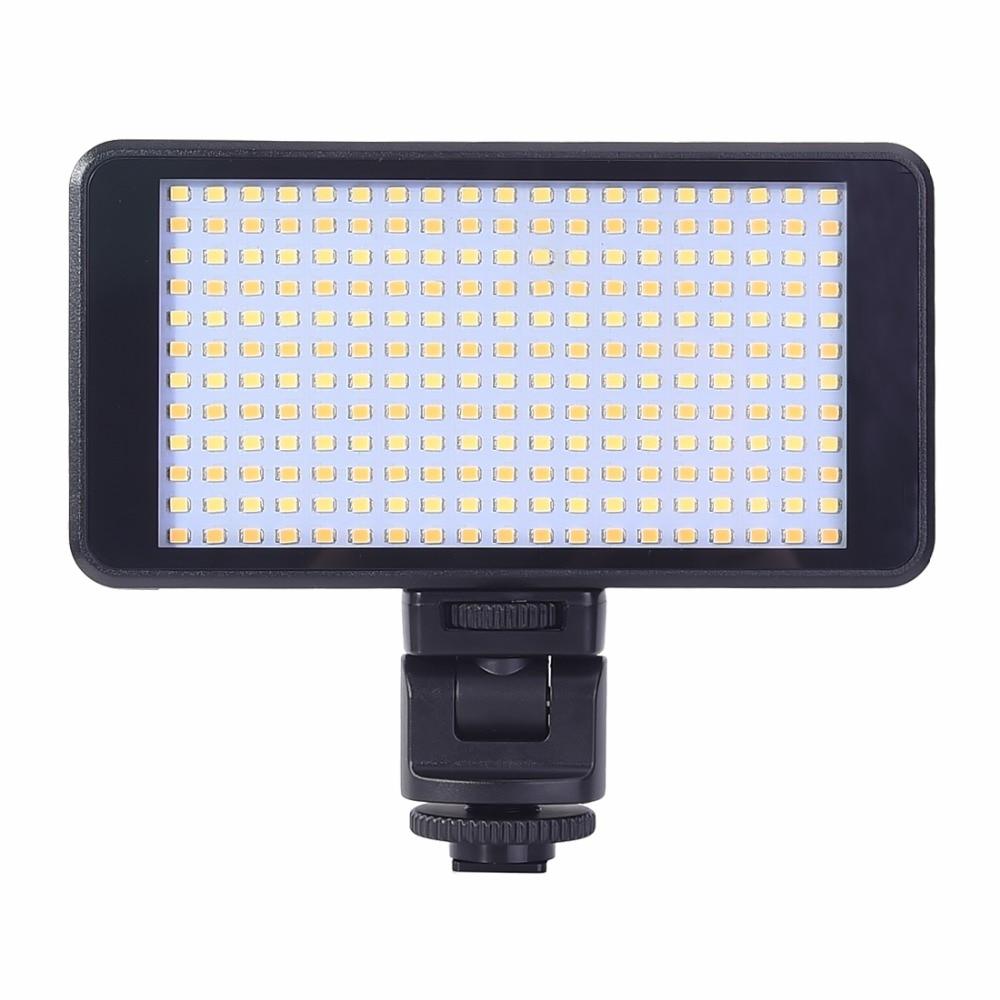 DSTE DB88 LED-228A 228-LED 900LUX/1 m Luz de Vídeo Lâmpada para Canon DSLR camera Camcorder DV