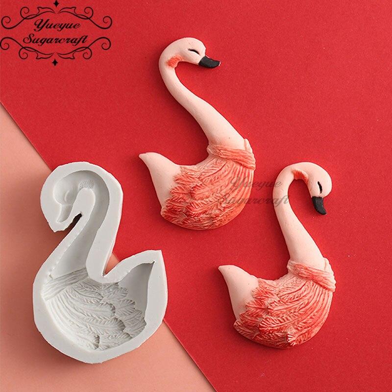 Yueyue Sugarcraft силиконовая форма «Лебедь», форма для украшения торта, инструменты для шоколада