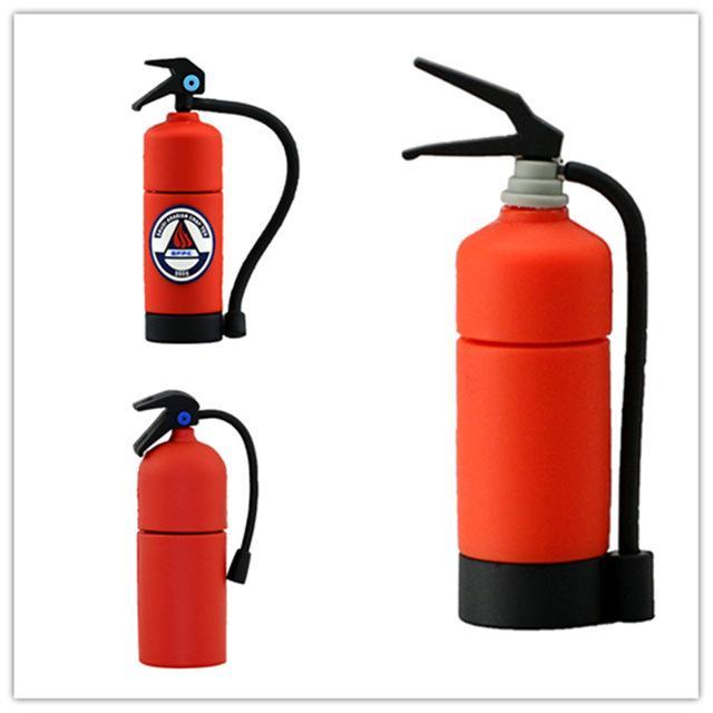 Fire extinguisher creative USB flash drive pendrive 8GB 16GB 32GB memory stick 64GB 128GB pen drive usb 2.0 key gift u disk