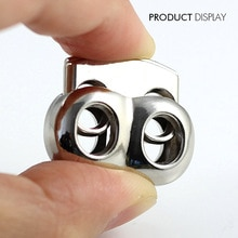 Bouchon de bascule en métal argent 10 pièces   Cordon de verrouillage, taille 25mm * 21mm * 7mm, Clip à bascule NK216