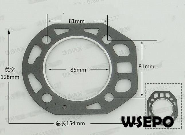 OEM КАЧЕСТВО! 85 мм Размер отверстия для упаковки в цилиндр/прокладка головки для R180 8HP 4-тактный дизельный двигатель с водяным охлаждением