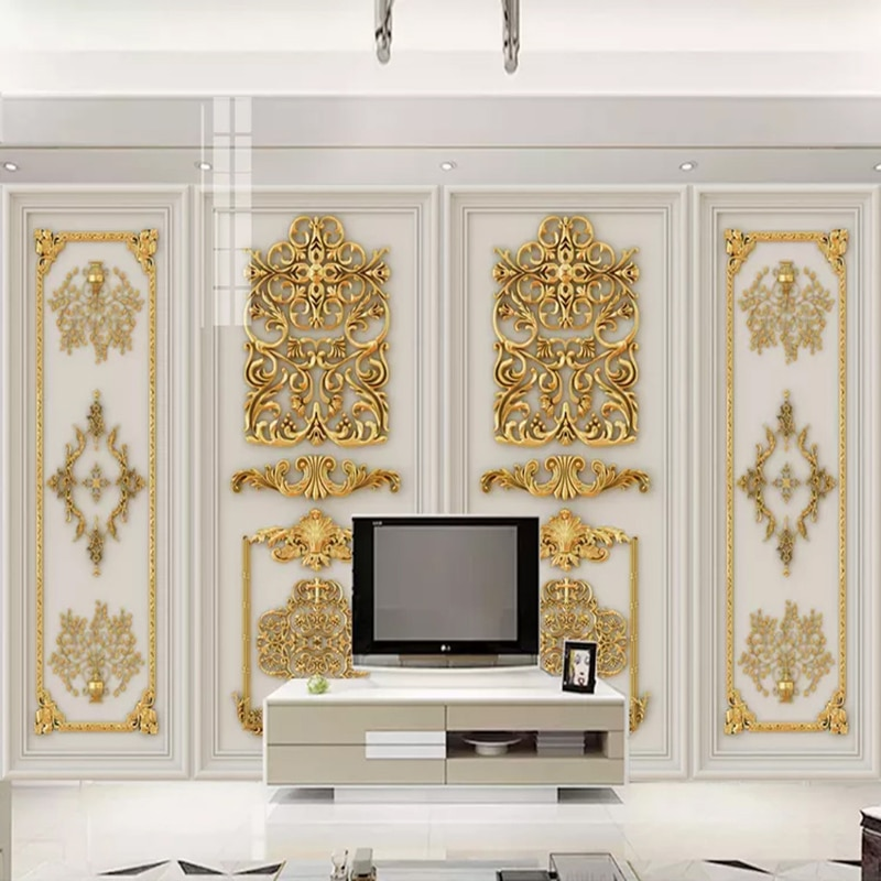 beibehang pastoral flowers wallpaper for walls 3d wall paper for wall 3 d classic embossed tv room bedroom wall paper home decor European Style 3D Stereo Gold Embossed Flowers Mural Wallpaper Living Room TV Sofa Bedroom Luxury Home Decor Wall Paper For Wall