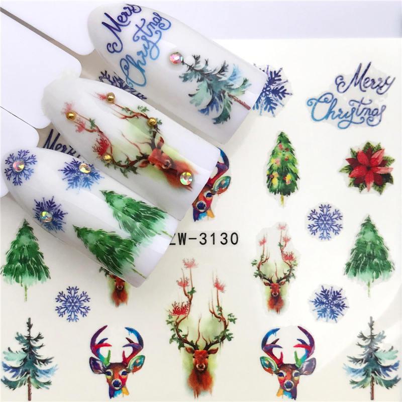 ZKO 1 PC etiqueta Do Prego decoração arte deslizante da árvore Do Feliz Natal Chapéus adesivo decalques de Água