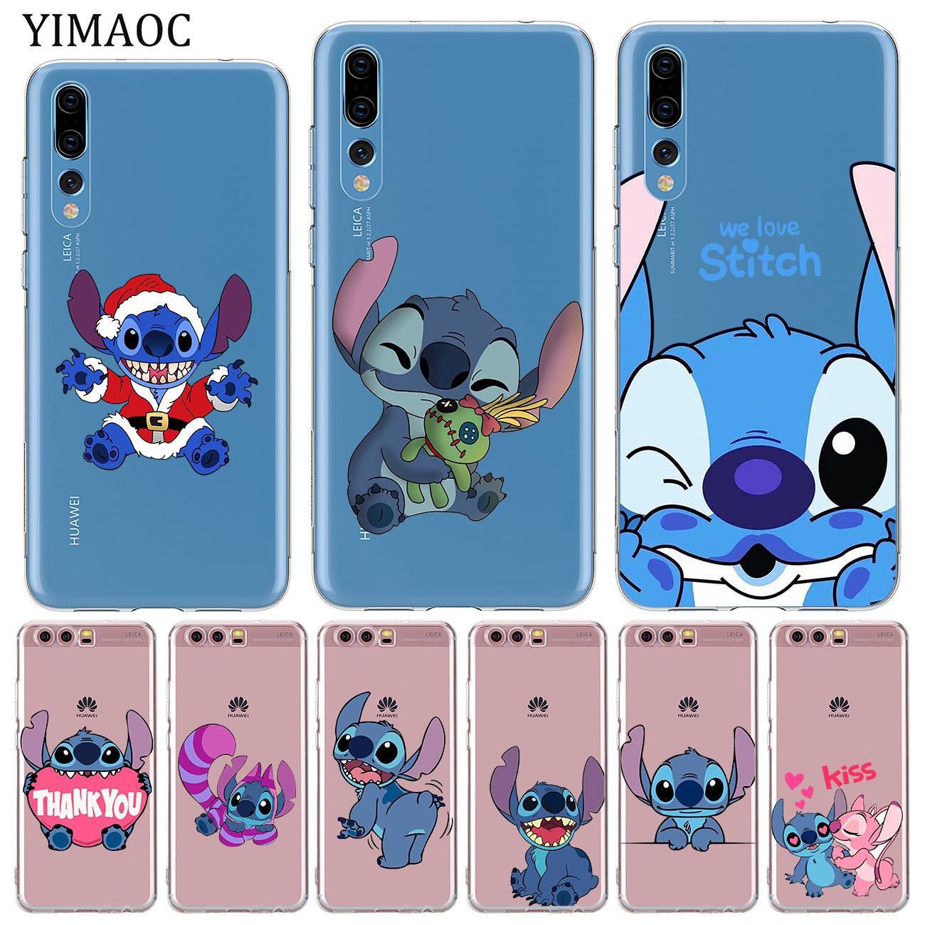 YIMAOC לילו וסטיץ 'רך סיליקון tpu טלפון Case עבור Huawei P30 P20 פרו P10 P8 P9 לייט 2017 2016 2015 P חכם Z 2019 כיסוי