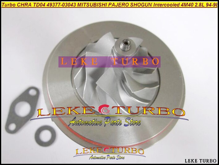 Cartucho De Turbo CHRA Núcleo TD04 49377-03043 Turbocharger Para MITSUBISHI PAJERO SHOGUN Intercooled 1994-4M40T ME201636 4M40 2.8L
