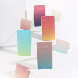 Colorlight mudança gradual bloco de notas marcador escola material de escritório