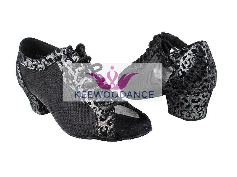 KeeWooDance hermoso Cheetah impresiones envío gratis nuevo caliente buena calidad señoras Latino Tango zapatos de baile salsa zapatos de salón
