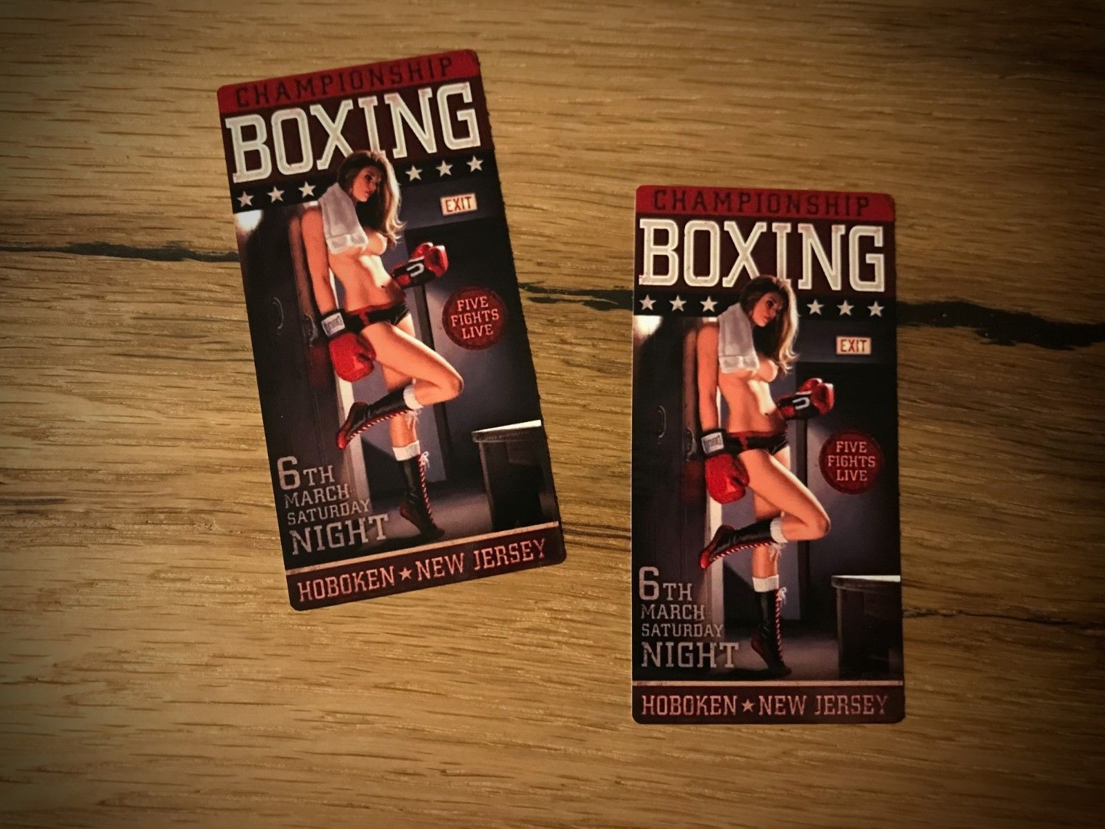 Boxing Sticker Box Club Vintage Girl Tuning Car Motorcycle Vintage Cool # 225