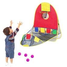 Les enfants jouent à des jeux tente enfant basket-ball jeu de tir tente intérieure et extérieure pliable jouer tente avec panier de basket-ball
