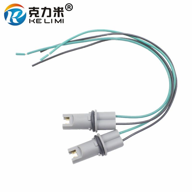 Ke li mi 4x carro led bulbo suporte de luz base soquete t10 t15 w5w 194 168 de alta temperatura cabo adaptador arnês plug conector t10