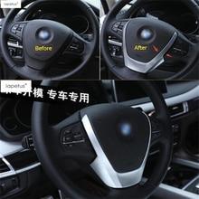 Lapetus-volant avant de volant   Accessoires pour BMW X3 F25 / X4 F26 2013 - 2017 décor mat, Kit de couverture de moulage U, garniture 1 pièces
